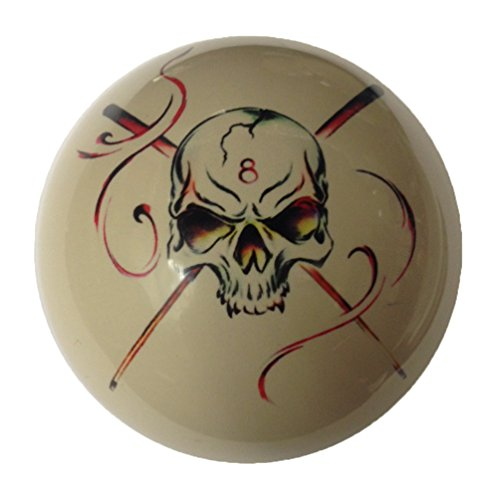 8 Ball Skull Crossbones with Cues Cue Ball Custom by D&L Billiards