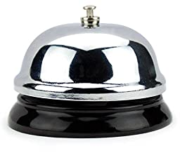 Chrome Service Bell with Black Base by Lansky Office Supplies (6cm)