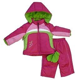 Rothschild Infant Girls Berry Pink Outerwear Set Snow Pants & Coat Snowsuit