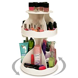 Cosmetic Organizer That Spins 3 Levels Of Storage In Only 12 Of Countertop No