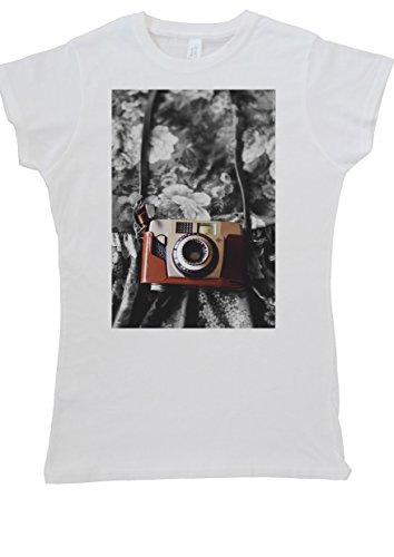 Retro Photo Camera Vintage Women Vest Tank Top T-Shirt -X-Large