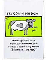 Edward Monkton The Cow of Wisdom Torchon à vaisselle