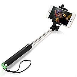 Selfie Stick, Allytech Foldable U-Shape Self-portrait Monopod Extendable Selfie Stick with Built-in Bluetooth Remote Shutter for iPhone 6s, 6, 6 Plus, 5, 5s, 5c, Samsung Galaxy S6 S5, Android