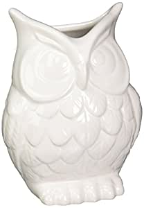 Abbott Ceramic Owl Vase White Decorative