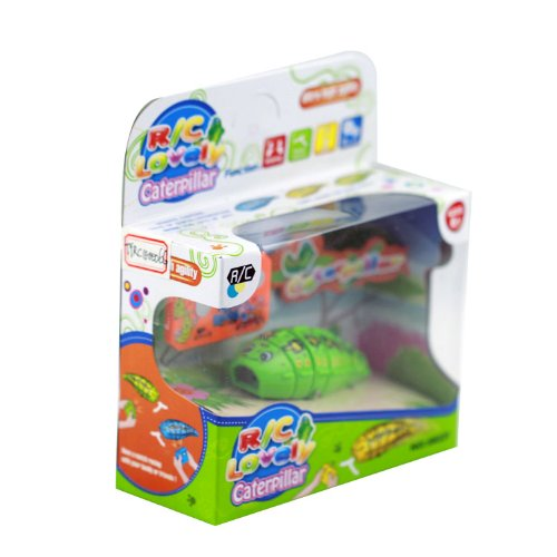 Cute Remote Radio Control Caterpillar Toy For Children Green front-756001