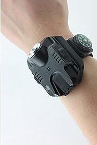 WNOSH Super Bright Waterproof Wrist LED Light R2 Rechargeable LED Flashlight Wristlight