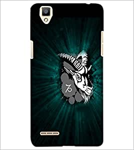 PrintDhaba Animal Image D-4750 Back Case Cover for OPPO F1 (Multi-Coloured)