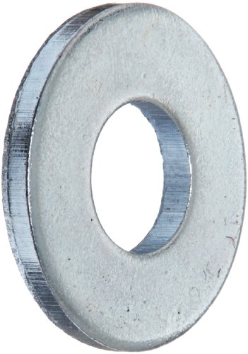 Steel Flat Washer, Zinc Plated Finish, ASME B18.22.1, No. 8 Screw Size, 3/16″ ID, 7/16″ OD, 0.049″ Thick (Pack of 100)
