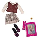 Our Generation Hally's Read and Play Set Clothes and Book Doll Accesories