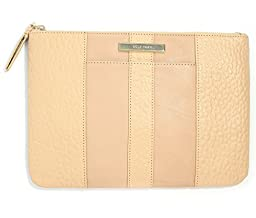 Cole Haan Leather Pouch Clutch Bag Tech Case (Sand Brown)