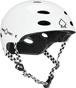 PRO-TEC Ace Skate 2-Stage Foam Liner Gloss White Large Skateboard Helmet