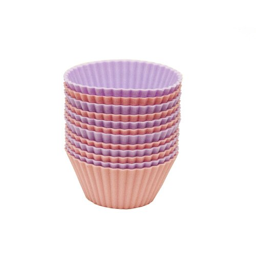 Favor Chef Select Silicone 12-Piece Silicone Cupcake Liners, Pink And Lavender occupation