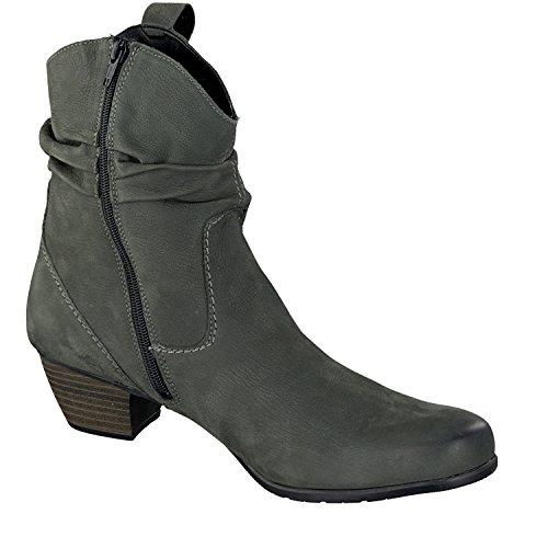 Stivaletti donna in pelle grigio Remonte Dorendorf 862830635, Grigio (grigio), 42