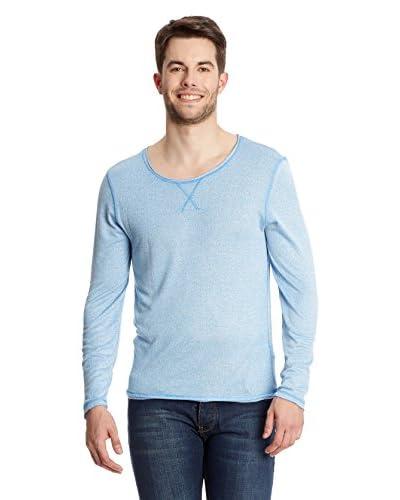 Collezione Camiseta Manga Larga Azul