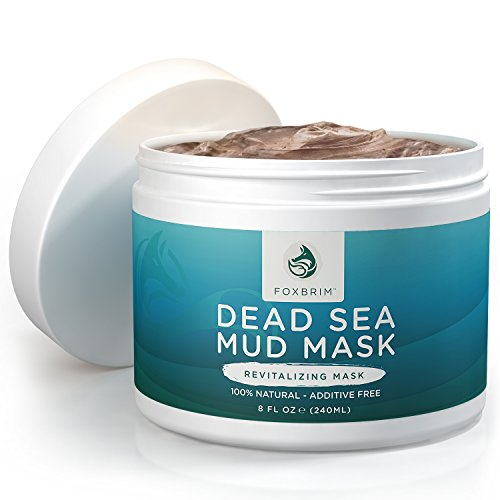 Foxbrim Dead Sea Mud Mask - 100% Natural & Additive Free - Restoring & Detoxifying Face Mask - Imported from Israel - 240mL/8OZ (Dead Sea Salt Psoriasis Cream compare prices)