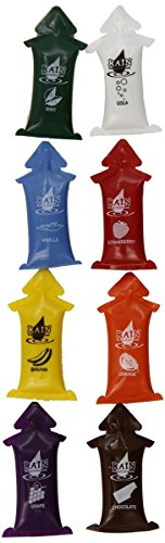 Rain Personal Lubricants Assorted Flavors Singles 8-Pack