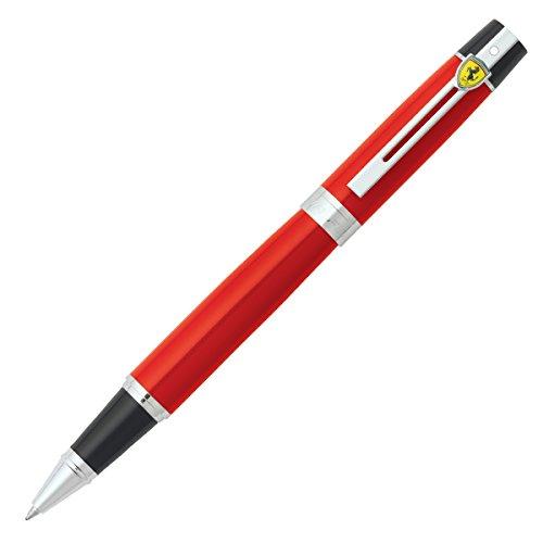 sheaffer-ferrari-300-rosso-corsa-roller-ball-pen-black-ornament