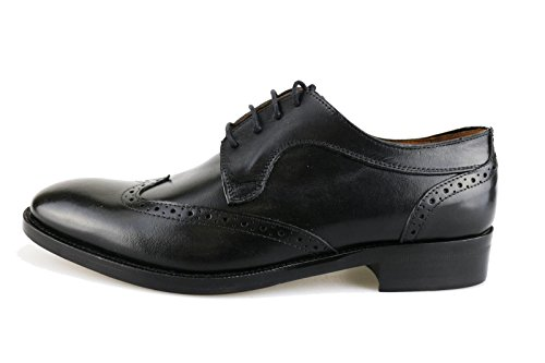 hilton-zapatos-elegantes-hombre-41-eu-negro-cuero-ag447