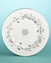 "Martha Stewart Wedgwood ""Flourish"" Salad Plate in Ecru 9"""