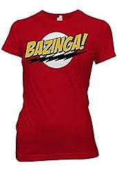 Ripple Junction BIG BANG THEORY -- BAZINGA -- JUNIORS T-shirt