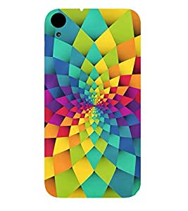 GEOMETRICAL FLOWER PATTERN 3D Hard Polycarbonate Designer Back Case Cover for HTC Desire 830::HTC Desire 830 dual sim