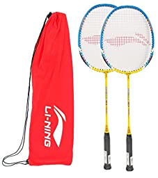 Li-Ning Badminton Racquet Smash Series Pack of 2 with Extra Grip