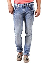 Spykar Light Blue Washed Slim Fit Jeans By Trendzy Store