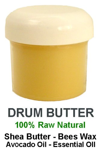 Original Drum Butter Hand Cream - Healing Skin Care - 2oz (Blackberry Sage scent) - Djembe goat skin and wood care - by DjembeMods 2 Ounce Blackberry