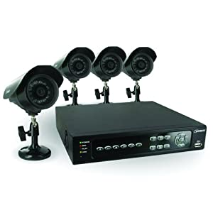 Defender SN500-4CH-002 Feature-rich 4 Channel H.264 DVR Security System with Smart Phone Access and 4 Indoor/Outdoor Hi-Res CCD Night Vision Cameras