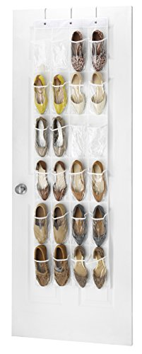 Whitmor Crystal Clear Over The Door Shoe Organizer