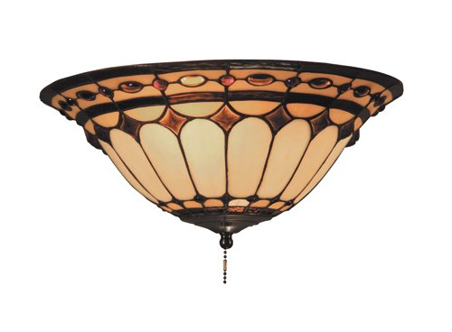 Landmark 990-J Diamond Ring 2-Light Fan Kit/Ceiling Mount, Burnished Copper Landmark B000ROGBTI
