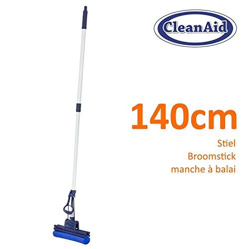 CleanAid OneTouch: Spazzolone lavapavimenti, spugna in PVA, telescopico, extra assorbente