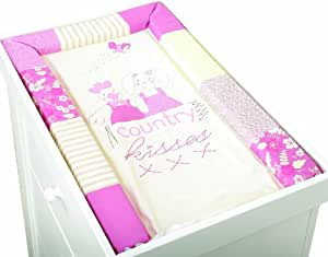 Silvercloud Country Kisses Changing Mat for Newborn (Pink)