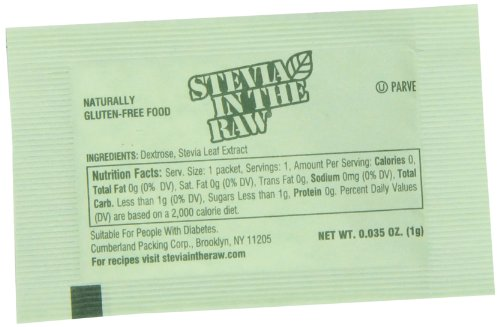 Stevia in the Raw Sweetener Packets, 1000 Count Food ...
