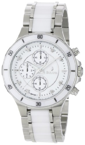 Bulova Women's 98P125 Substantial Ceramic and