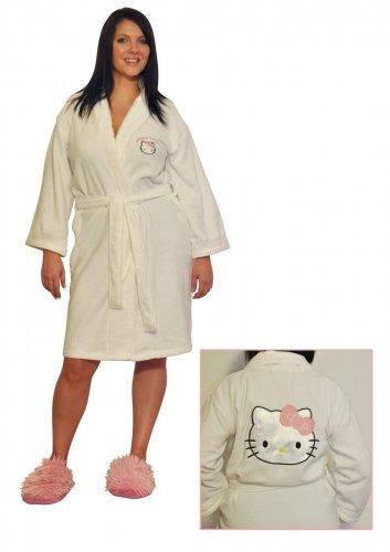 Hello Kitty Dressing Gown Bathrobe - Large