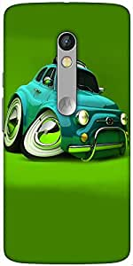 Snoogg Deformed Fiat 2621 Designer Protective Back Case Cover For Motorola Moto X Play