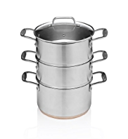 3 Tier Stainless Steel Copper Base Steamers
