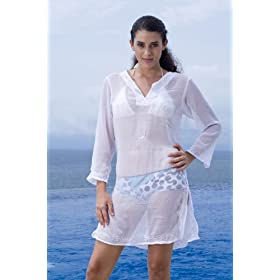 Alki'i Misses Long Sleeve Tunic Cover up/Dress