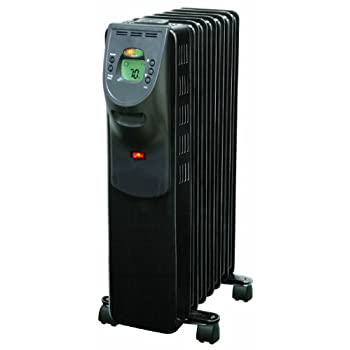 Comfort Zone® Digital Electric Oil Filled Radiator Heater features a digital interface with soft touch push button controls, with on/off power indicator light; display can be set to Fahrenheit or Celsius readouts.  Timer function turns heater on/off ...