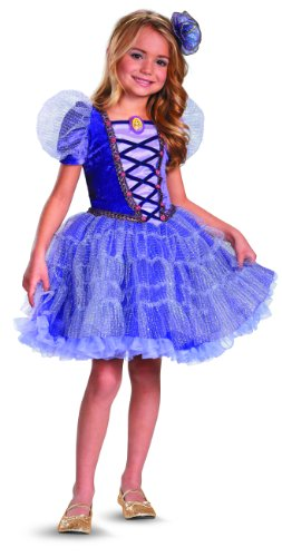 Disguise Disney's Tangled Rapunzel Tutu Prestige Girls Costume, 3T-4T