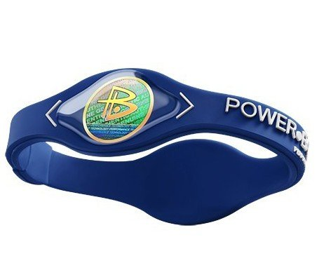 Power Balance Bracelet Navy Blue/ White Letters