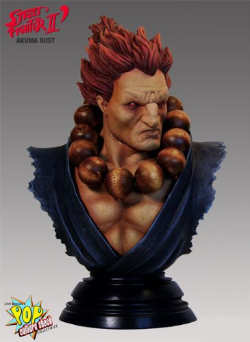 Picture of Pop Culture Shock Akuma Large Scale Bust Figure (B0057SKAE6) (Pop Culture Shock Action Figures)