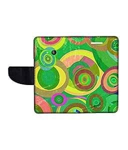 KolorEdge Printed Flip Cover For Microsoft Lumia 535 Multicolor -(50KeMLogo12041Lumia535)