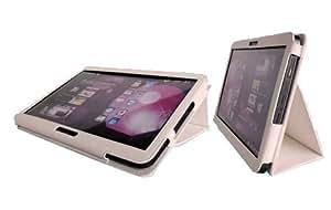 Samsung Galaxy 7 zoll Tab 2 P3100 P3110 Ledertasche-Hülle und Flip-Stand-Beutel; (weiß)