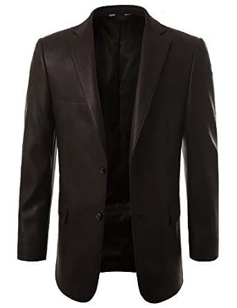 mondaysuit mens leather look sport coat blazer jacket big tall avail at amazon men s. Black Bedroom Furniture Sets. Home Design Ideas