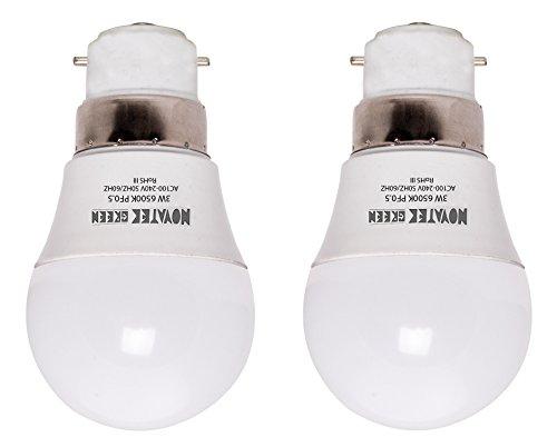 NOVATEK-GREEN-3W-B22-LED-Bulb-(White,-Set-Of-2)