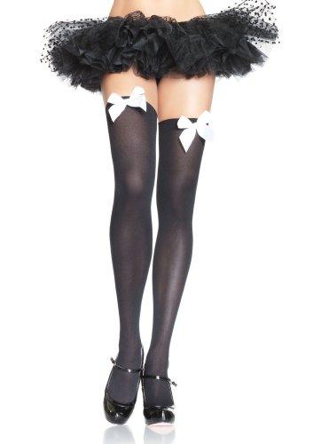 Thigh High Stocking With Bows 6255