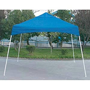 10 x 10 Easy Pop-Up Canopy Tent Blue Cover Shelter Logic