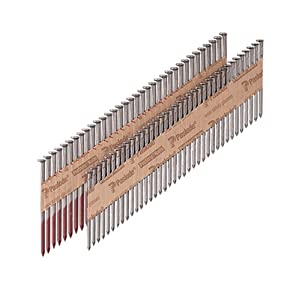 Paslode 650210 3-by-0.131-Inch 30-Degree Full-Head RounDrive Paper Tape Collated Framing Nails, Bright, 2500-Per Box